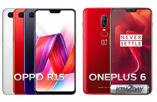 Oppo R15 vs Oneplus 6